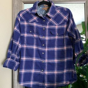 ✨ Jachs Girlfriend | Flannel Button Down, S
